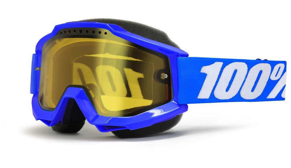 Brilles 100% Acc Snow Bl Yellow