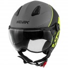 Demi-jet helmet HEVIK NAUTILUS Grey / Yellow